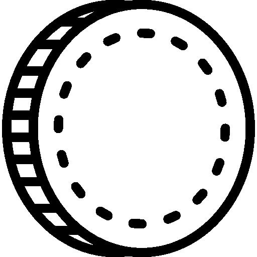 Piktogramm schwarze Münze - Ulrich Redecker - Ankauf Briefmarken Münzen in Castrop-Rauxel